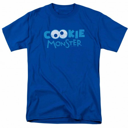Sesame Street Cookie Eyes Blue T-Shirt