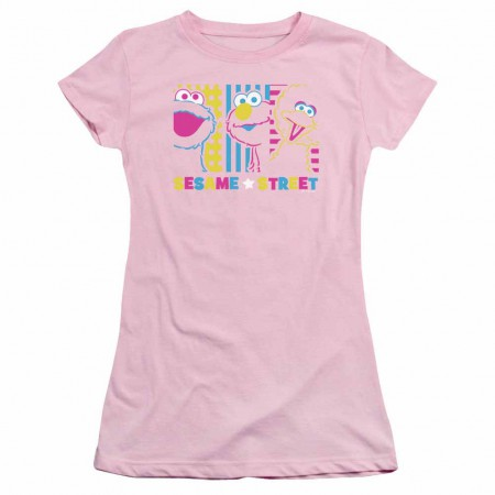 Sesame Street See Em Why Pink Juniors T-Shirt