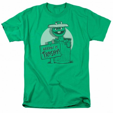 Sesame Street Keepin It Trashy Green T-Shirt