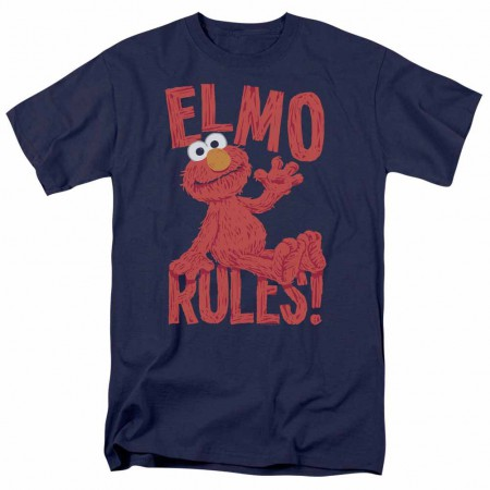 Sesame Street Elmo Rules Blue T-Shirt