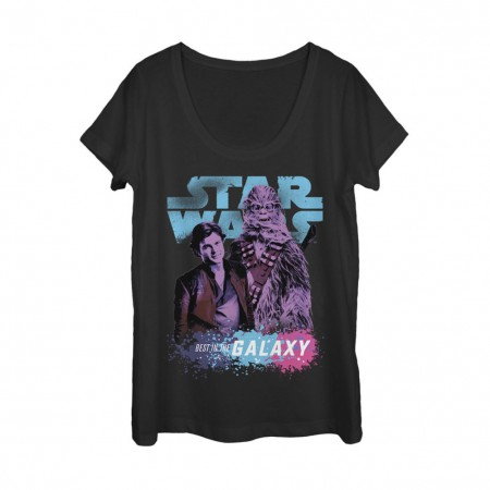Star Wars Han Solo Story Best In The Galaxy Women's Slouchy Tshirt