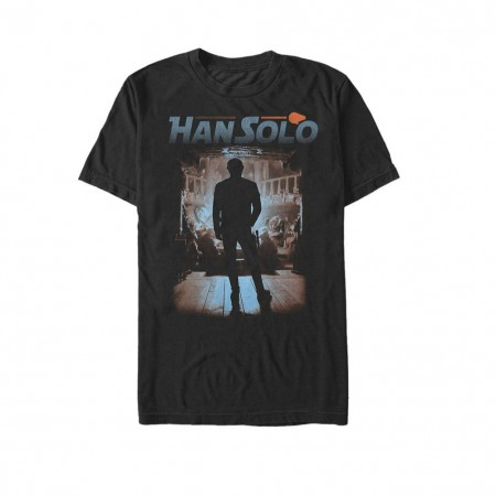 Star Wars Han Solo Story Gamblers Den Men's Black T-Shirt