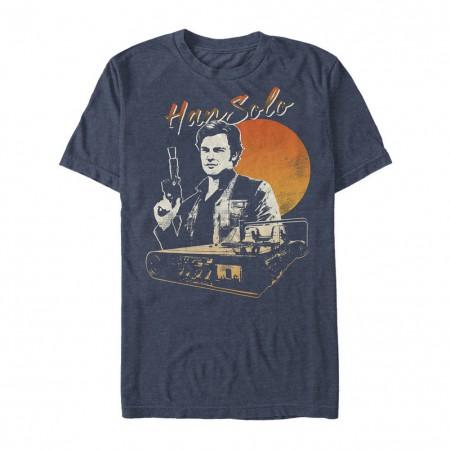 Star Wars Han Solo Story Smirk Men's Blue T-Shirt