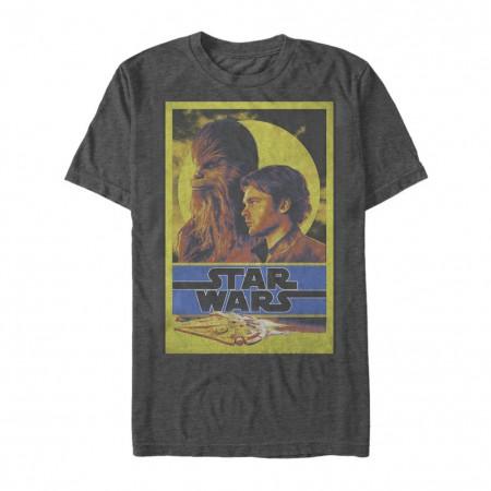 Star Wars Han Solo Story Bro's Men's Grey T-Shirt