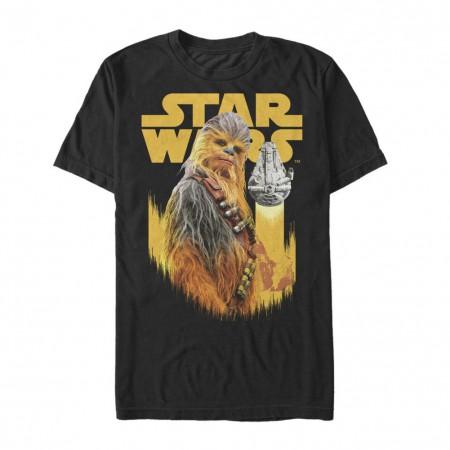 Star Wars Han Solo Story Chewie Falcon Men's Black T-Shirt