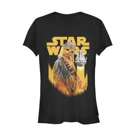Star Wars Han Solo Story Chewie Falcon Women's Tshirt