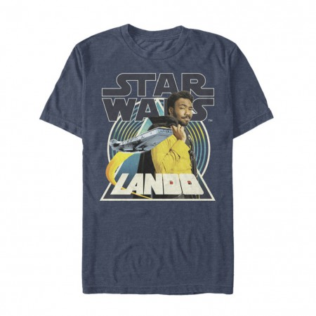 Star Wars Han Solo Story Lando Men's Blue T-Shirt