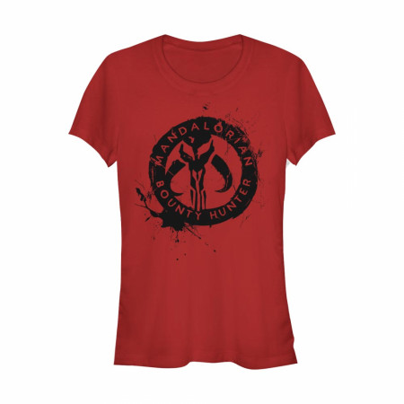 The Mandalorian Bounty Hunter Crest Red Women's T-Shirt
