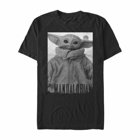 Star Wars The Mandalorian The Child Grayscale Pose T-Shirt
