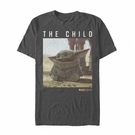 The Mandalorian The Child Portrait Grey T-Shirt
