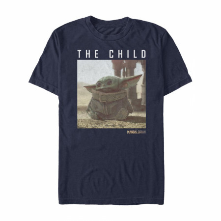 The Mandalorian The Child Photo Navy Blue T-Shirt