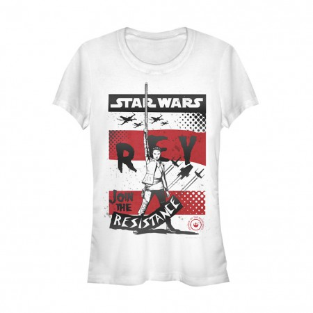 Star Wars The Last Jedi Rey Join The Resistance Womens Tshirt
