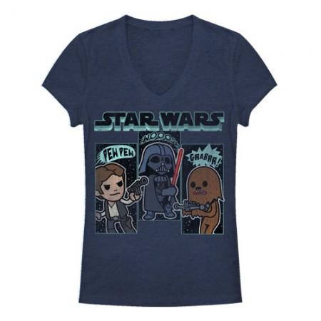 Star Wars Sound Effects Blue Juniors T-Shirt