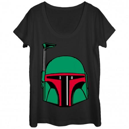 Star Wars Boba Fett Helmet Women's Tshirt