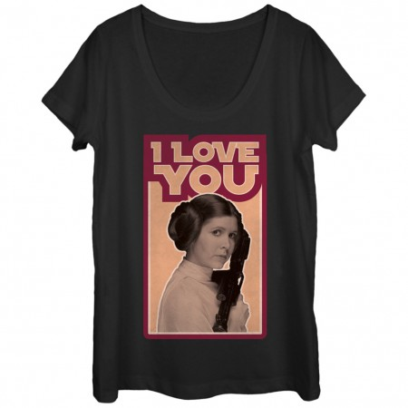 Star Wars Princess Leia I Love You Women's Shirt