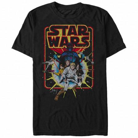 Star Wars Old School Comic Black T-Shirt