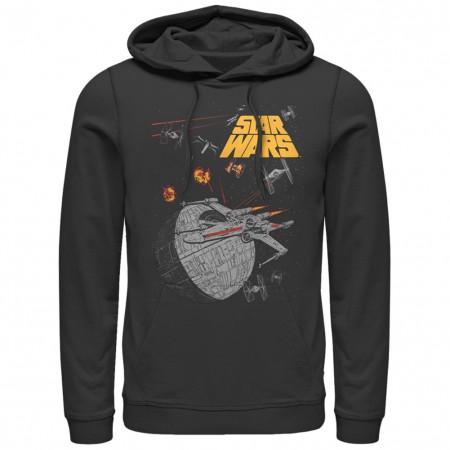 Star Wars X Wing Force Black Pullover Hoodie