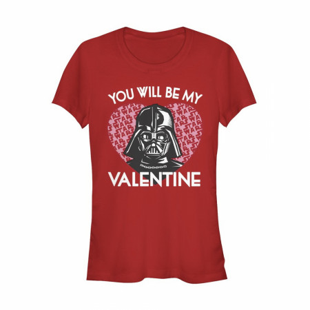 Valentine's Star Wars Darth Vader Invitation Women's T-Shirt