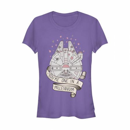Star Wars You're One in A Millennium Women's Purple T-Shirt