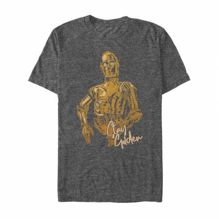 Star Wars C-3PO Stay Golden T-Shirt