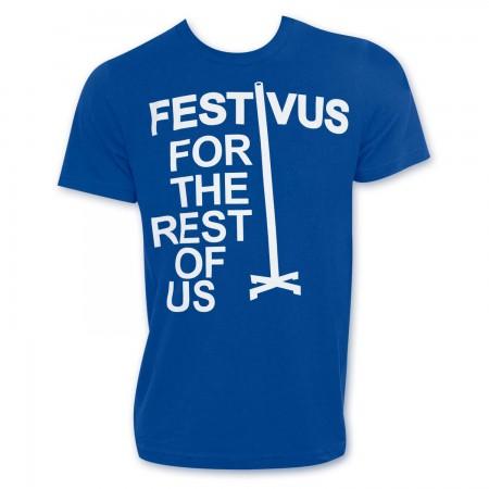 Seinfeld Men's Blue Festivus T-Shirt