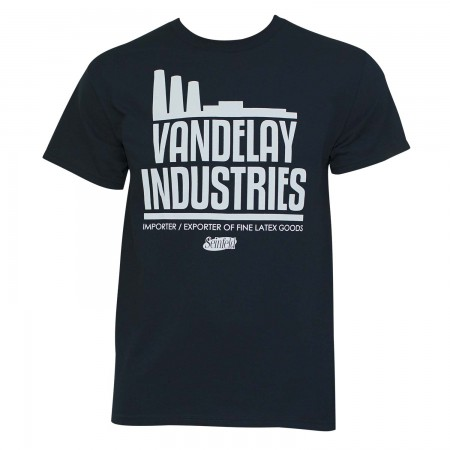 Seinfeld Vandelay Industries Men's Navy Blue Graphic T-Shirt
