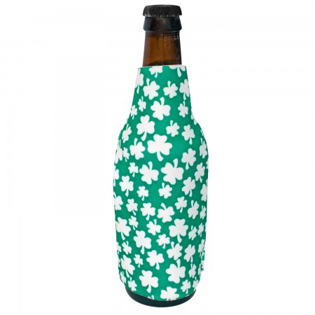 St. Patrick's Day Foam Shamrock Bottle Cooler