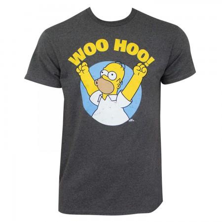 Simpsons Men's Grey Woo Hoo T-Shirt