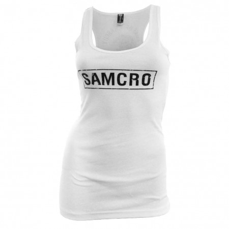 Sons of Anarchy Women's White SAMCRO White Tank Top