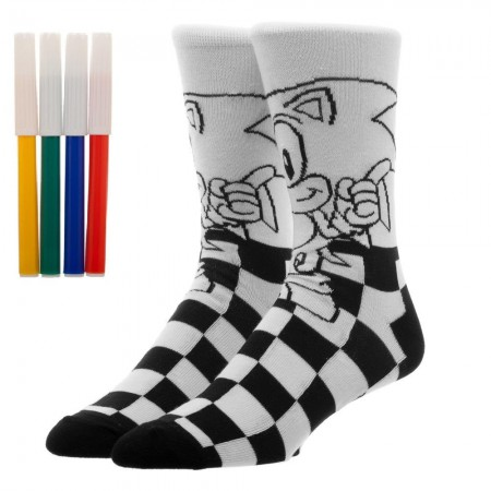 Sonic Superhero Color Yourself Socks