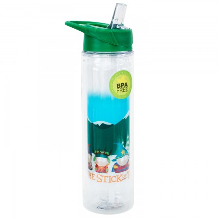 South Park Plastic Stick Of Truth Water Bottle & Straw