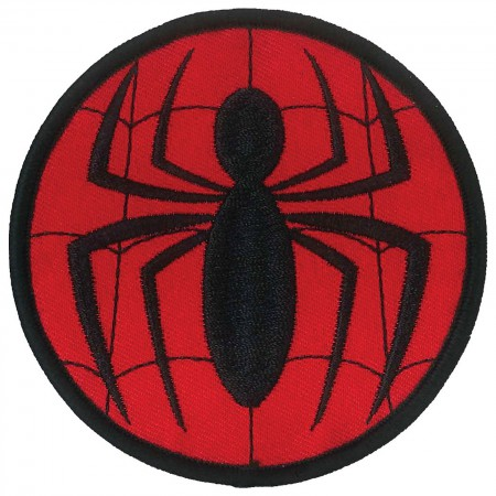 Spider-Man Comic Logo Iron On Patch