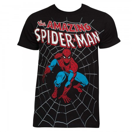 The Amazing Spider-Man Web Black T-Shirt