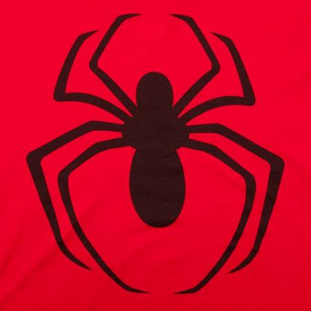 Spider-Man Classic Logo Juniors TShirt - Red