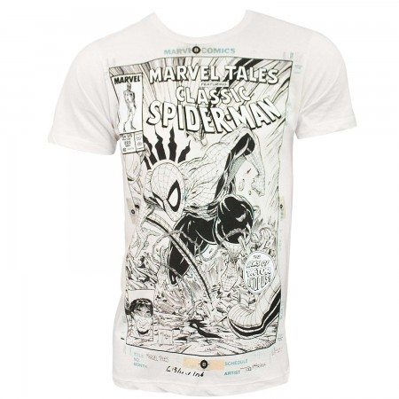 Spider-Man Comic Cover Men's Off-White TShirt