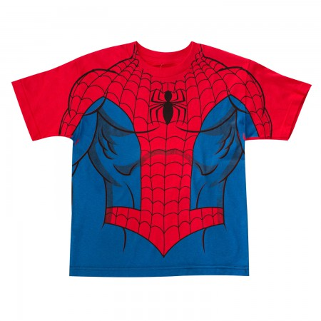Spider-Man Youth Red Costume T-Shirt