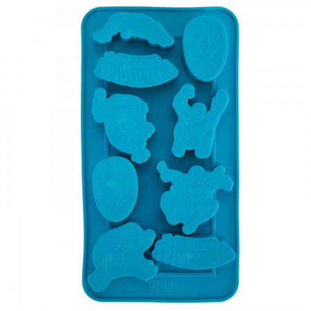 Spiderman Superhero Blue Ice Mold