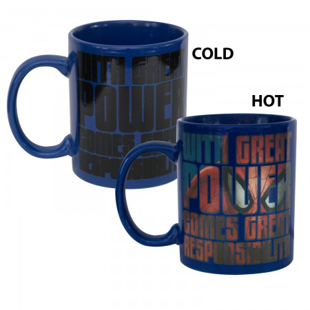 Spiderman Blue Heat Changing Mug