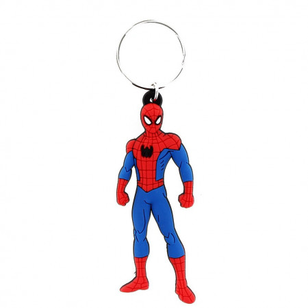 Spiderman Rubber Keychain
