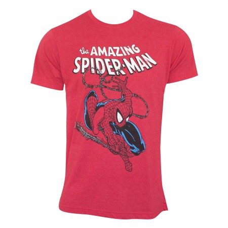 Spiderman Men's Red Swinging T-Shirt