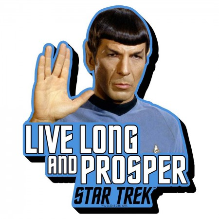 Star Trek Spock Live Long Logo Magnet