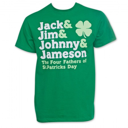 The Four Fathers of St. Patrick's Day Men's Green T-Shirt