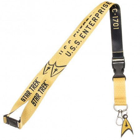 Star Trek Yellow Keychain Lanyard