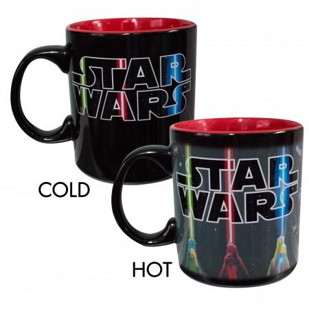 Star Wars Black 20 Ounce Heat Activating Mug