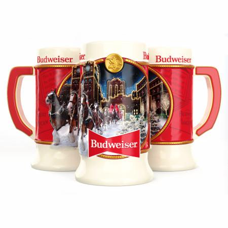 Budweiser Holiday Stein Ceramic Mug