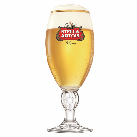 Stella Artois Traditional Gold Rimmed 33cl Chalice Glass