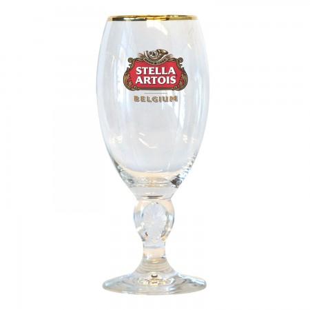Stella Artois Gold Rimmed Chalice Glass