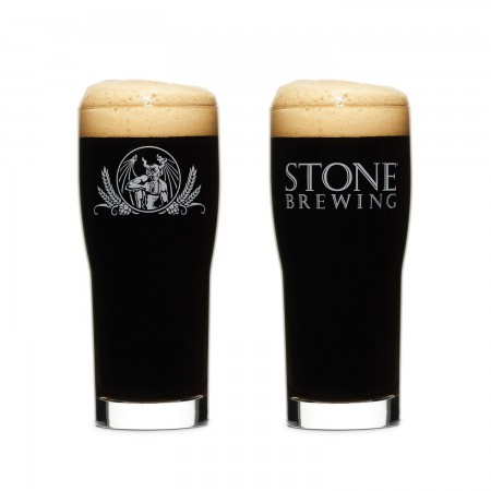 Stone Brewing Co. Duel Logo Core Pint Glass