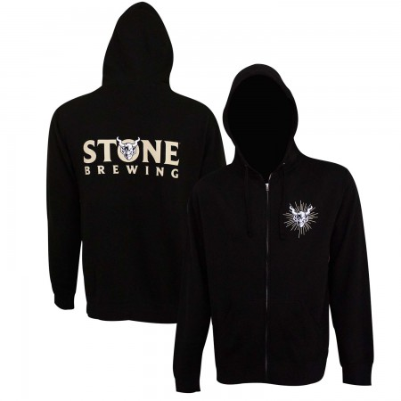 Stone Brewing Text Logo Black Men's Hoodie