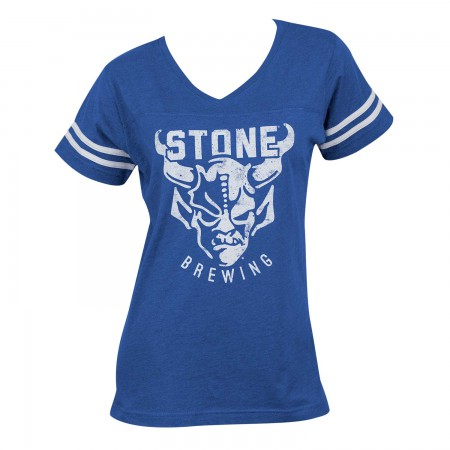 Stone Brewing Women's Blue Game Day T-Shirt